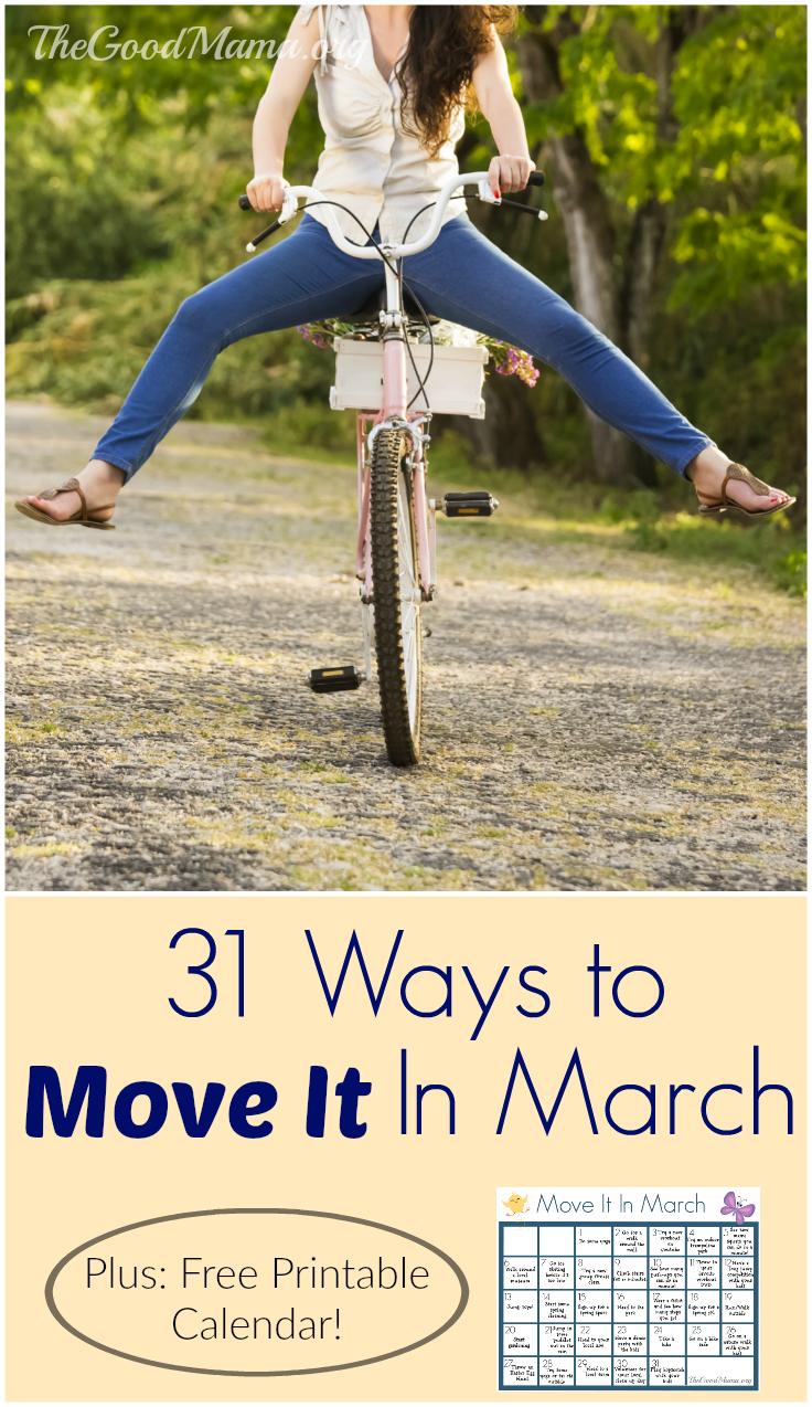 31 Ways to Move It in March! Plus, FREE printable calendar!
