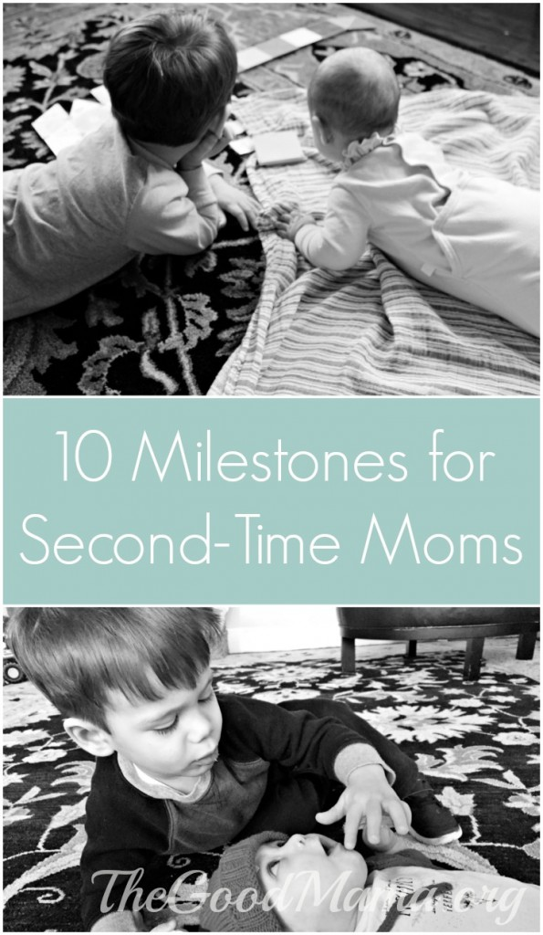 10 Milestones for Second-Time Moms