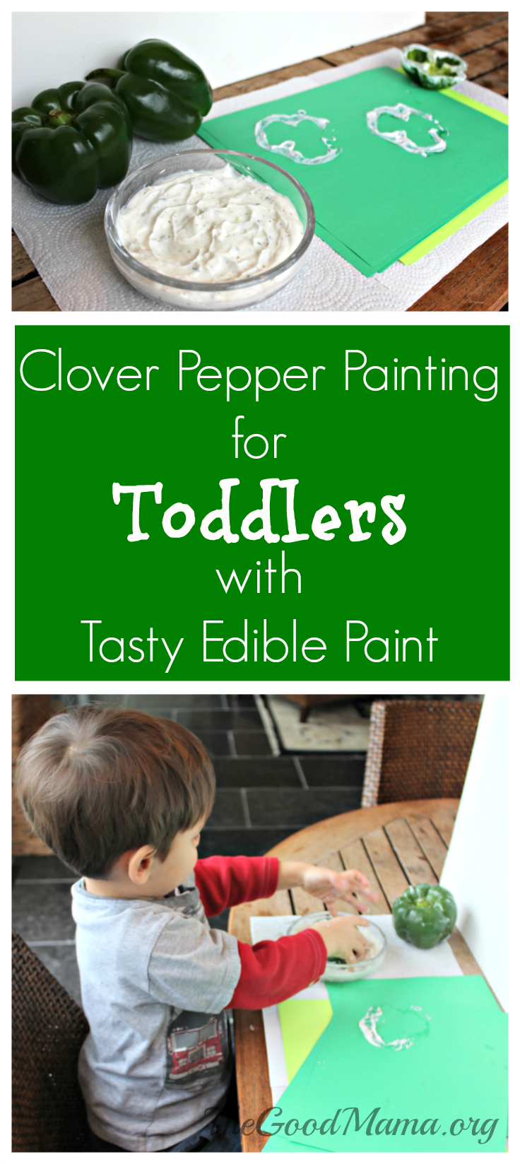Clover Pepper Painting for Toddlers with Tasty edible Paint