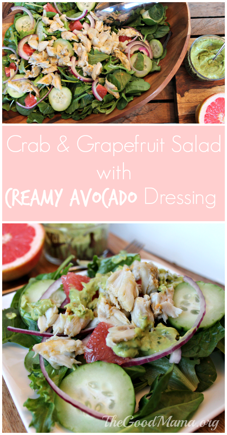 Crab & Grapefruit Salad with Creamy Avocado Dressing (NON-DAIRY)
