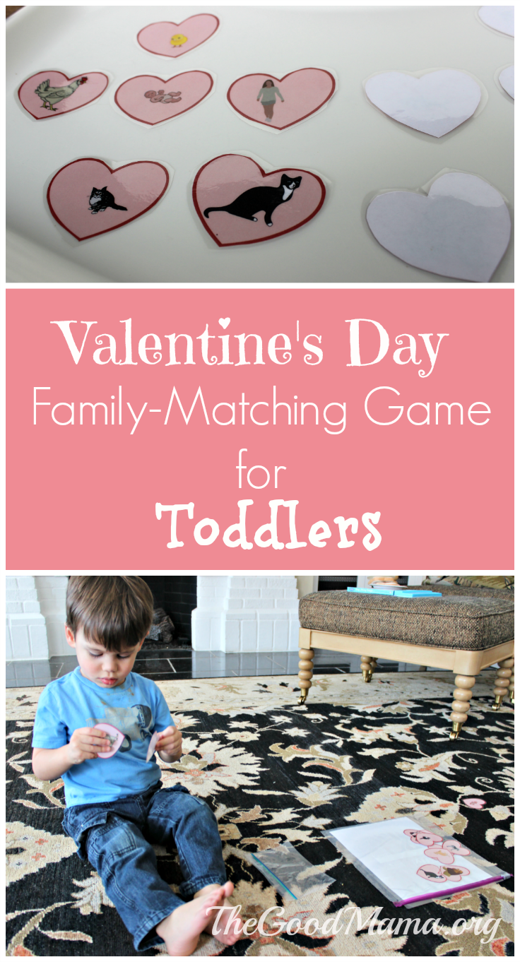 Valentine's Day Family-Matching Game for Toddlers