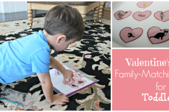 Valentine's day family matching game for toddlers