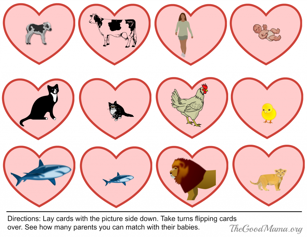 Valentine's Day Free printable game