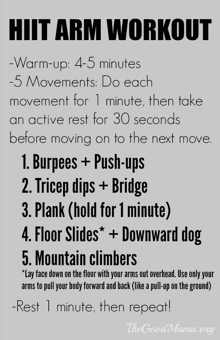 HIIT arm workout! Less than 15 minutes long!