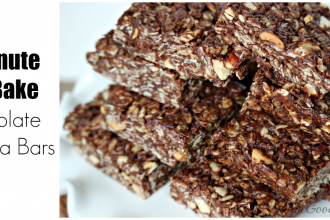 5 Minute No Bake Chocolate Granola Bars Recipe