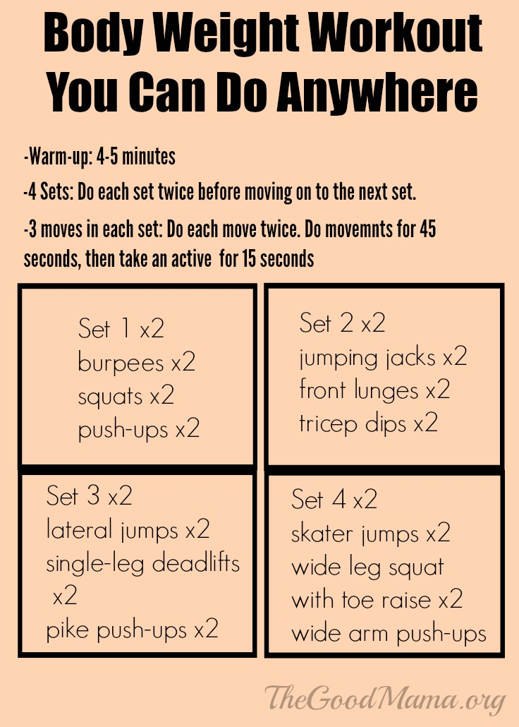 Body weight workout you can do anywhere HIIT