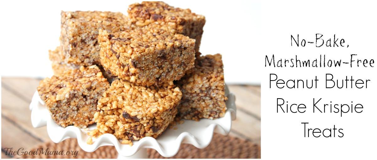 No-Bake Peanut Butter Rice Krispie Treats Recipe