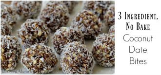 3 Ingredient No Bake Coconut Date Bites Recipe