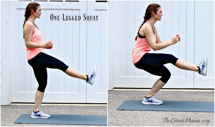 Balance Exercises- one-legged squat