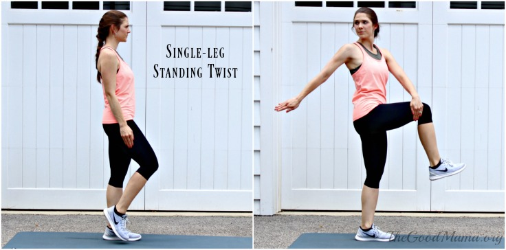 Balance Exercises Standing Side Twist