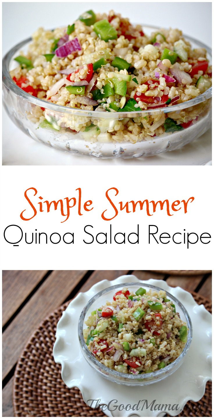 Simple Summer Quinoa Salad Recipe- So refreshing and tasty