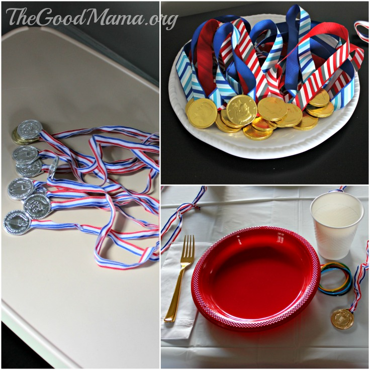 Olympic themed party for toddlers