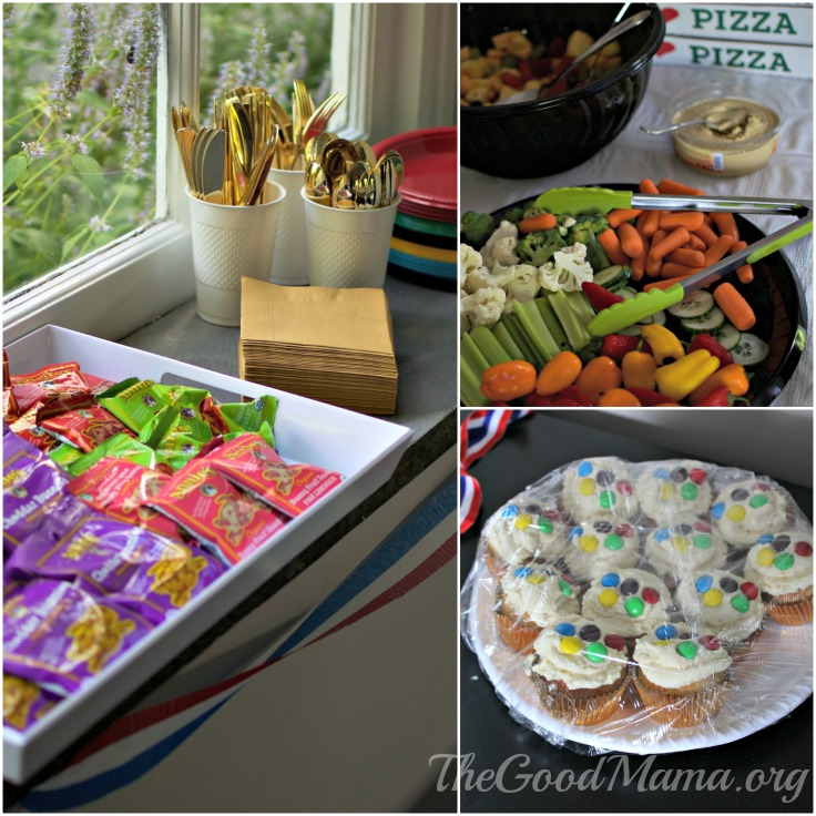 Food for an Olympic themed party for toddlers