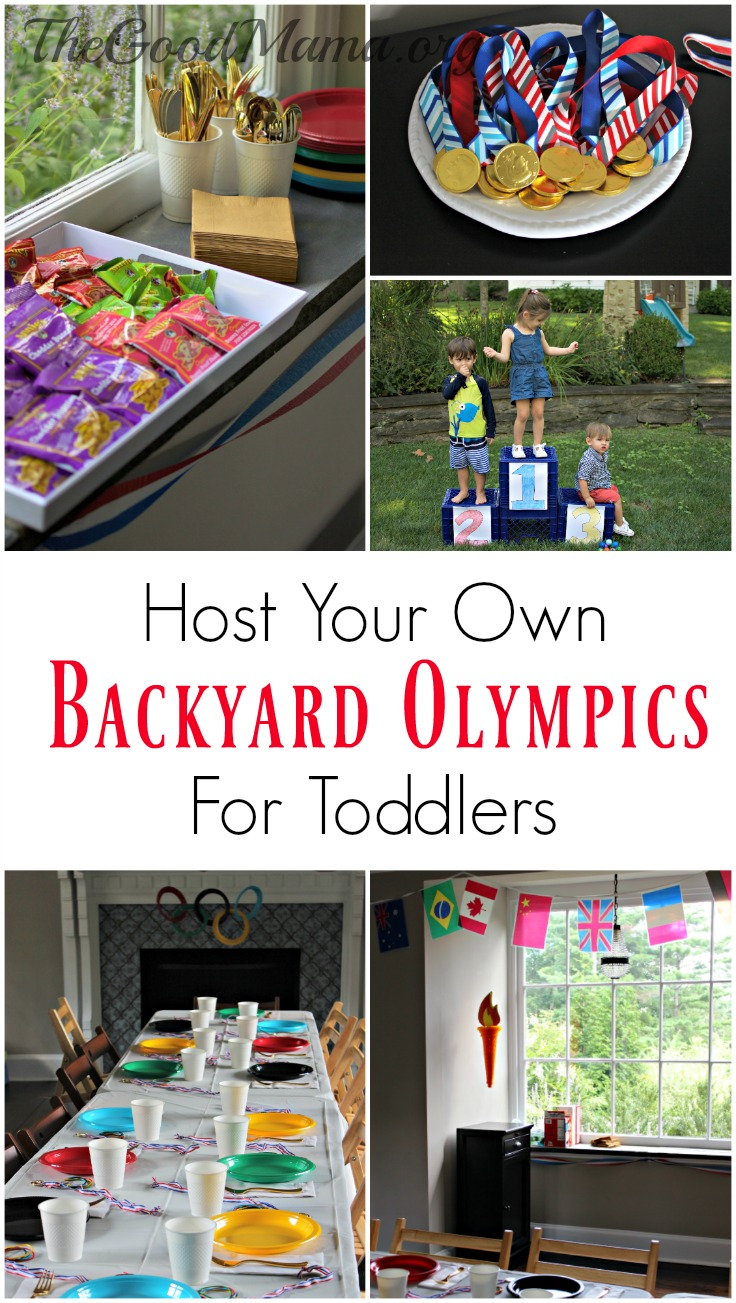Host Your Own Backyard Olympics for Toddlers