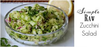 Simple Raw Zucchini Salad recipe
