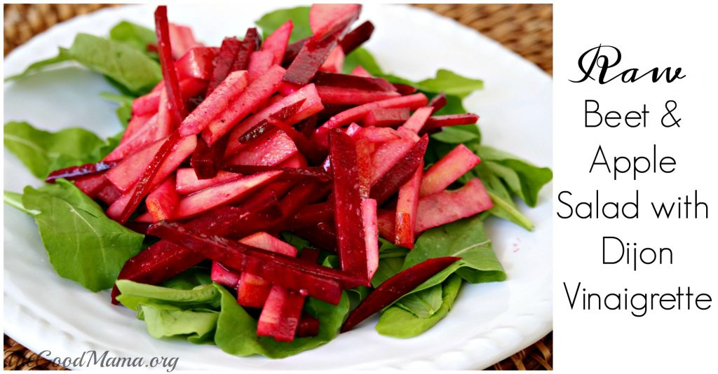 Raw Beet & Apple Salad with Dijon Vinaigrette Recipe