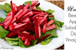 Raw Apple & Beet Salad with Dijon Vinaigrette Recipe