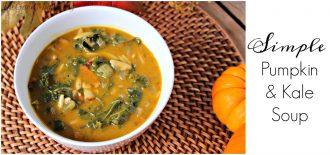 Simple Pumpkin & Kale soup Recipe