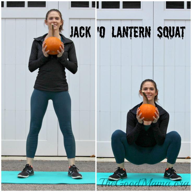 Jack O' Lantern Squats halloween exercsies