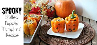 Spooky Stuffed Peppers Pumpkins Recipe